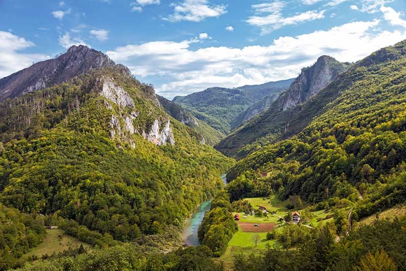 Tara Canyon landscape. Durmitor National Park