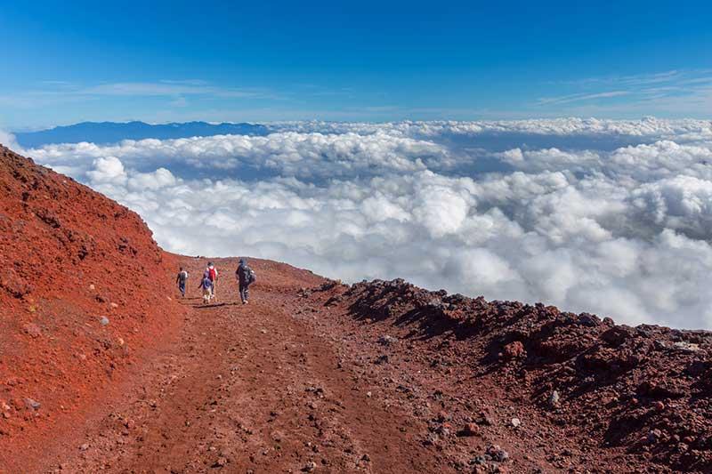 Views along the Yoshida Trail, Mount Fuji