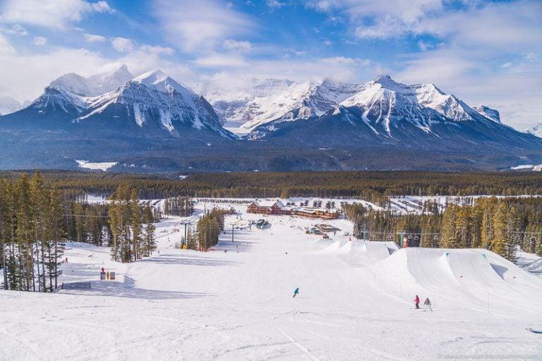 Winter ski resort and mountains