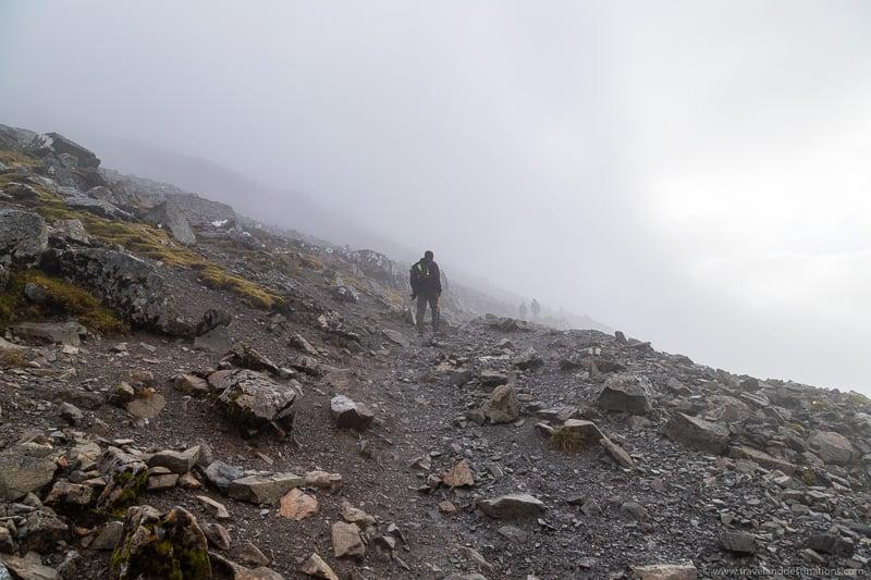 Foggy Misty Walks on Ben Nevis