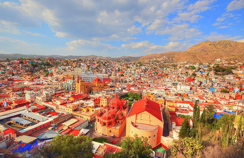 Guanajuato colourful skyline