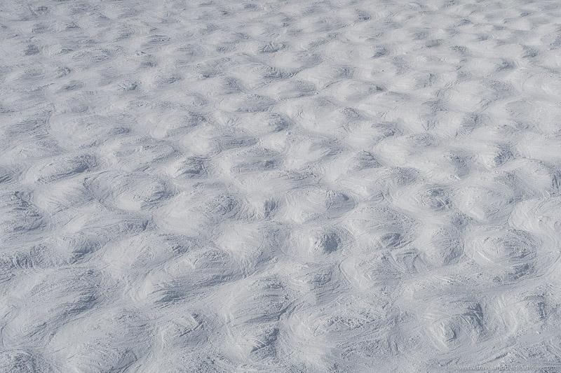 Moguls at a ski resort