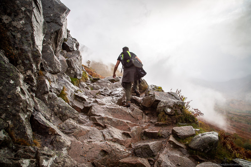 Steeper uneven sections on Ben Nevis Mountain Track