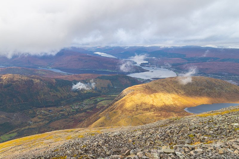 The views from Ben Nevis Mountain Track