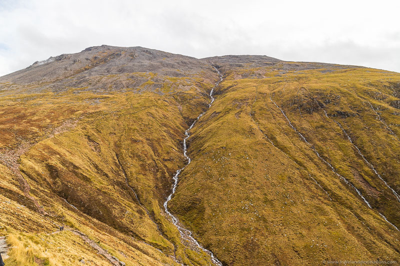 Waterfalls and streams on the Ben Nevis Track