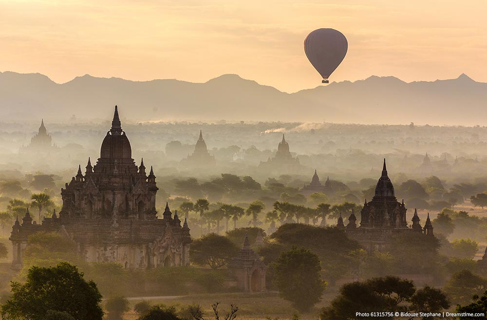 Bagan, Myanmar at sunrise