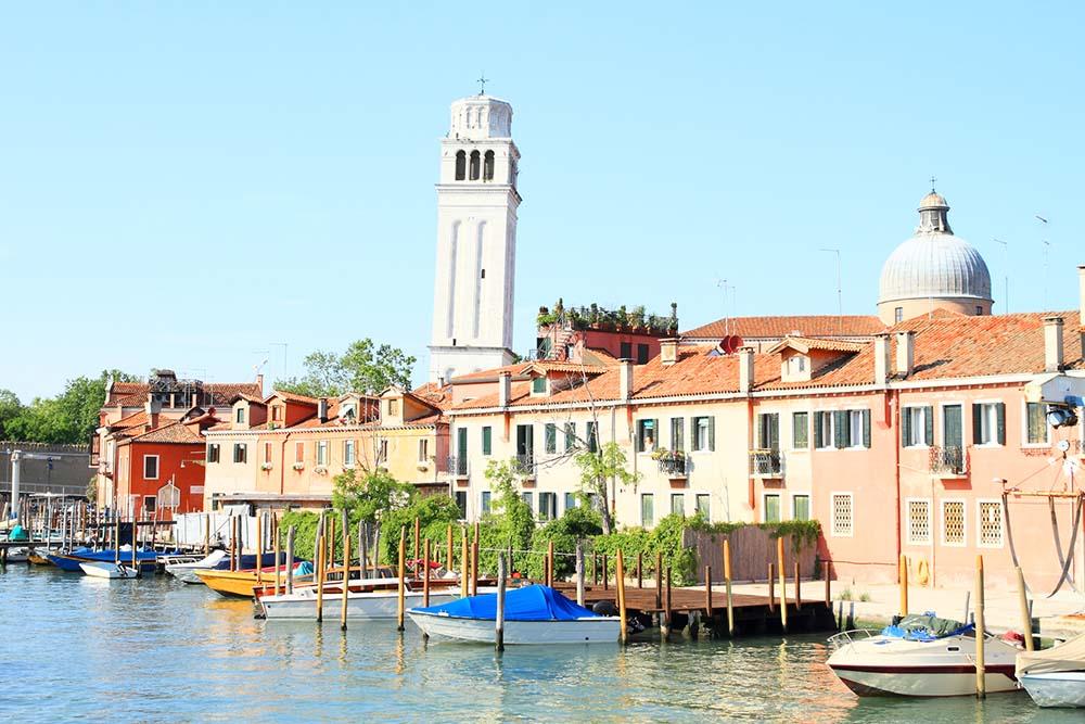 Buildings along Rio del Giardini, Venice