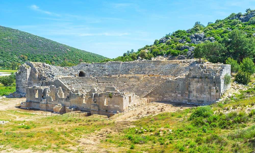 Patara amphitheatre ruins