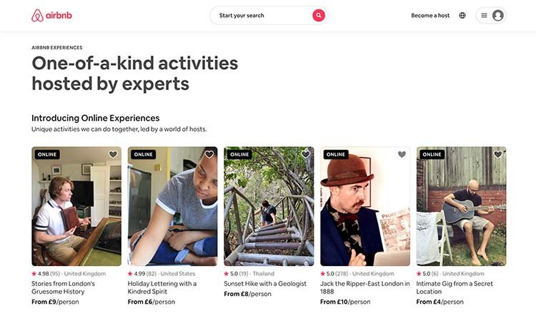 Airbnb Experiences Screenshot