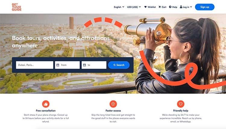 GetYourGuide Screenshot