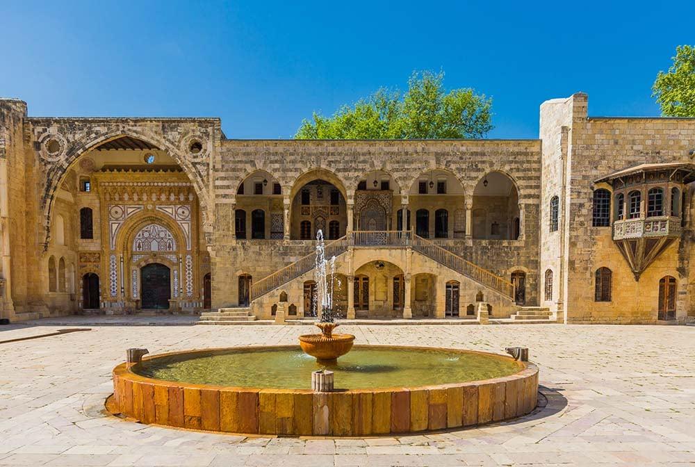 Beiteddine Palace courtyard