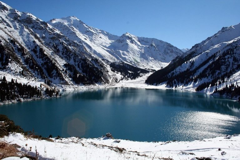 Big Almaty Lake and mountains