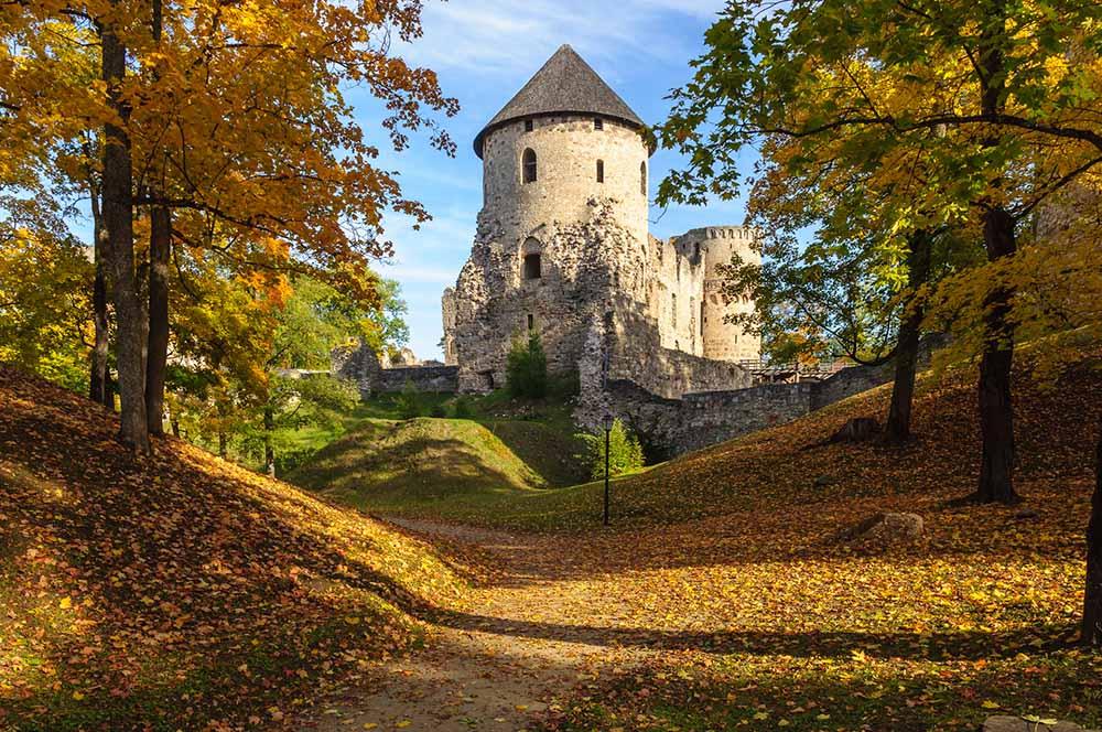Cesis castle and park