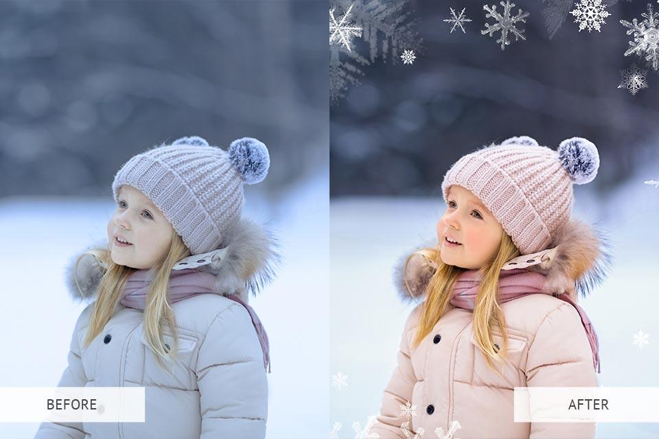 Winter snowflakes overlays