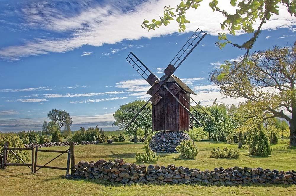 Windmill on Saaremaa Island