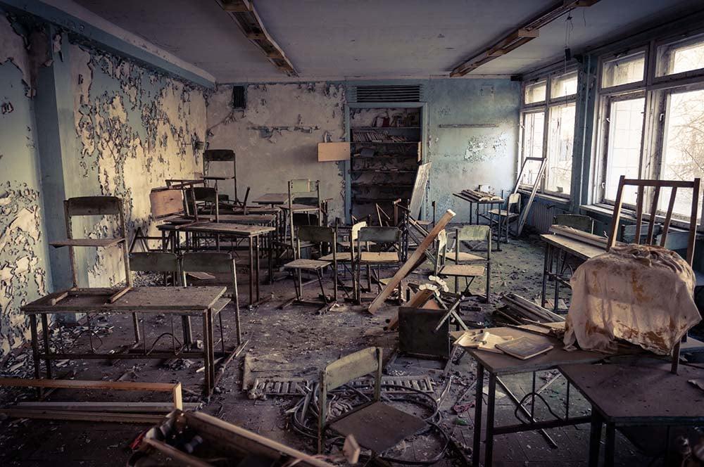 Abandoned school in Chernobyl