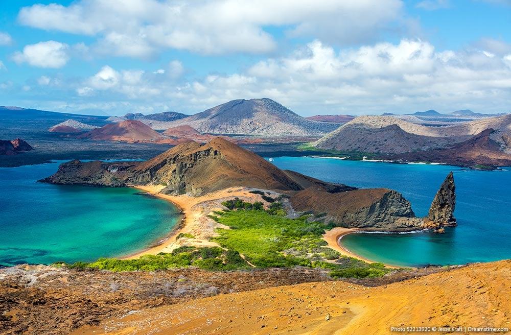 Beautiful places in Ecuador - Bartolome Island, Galapagos