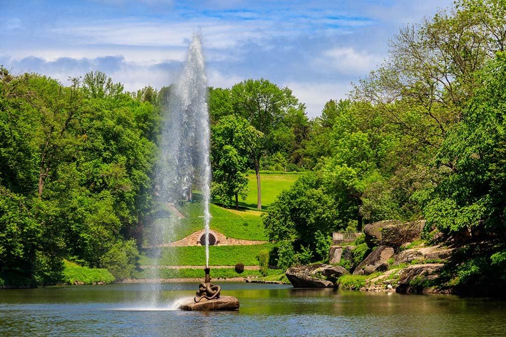 Sofiyivka park and fountain in Uman