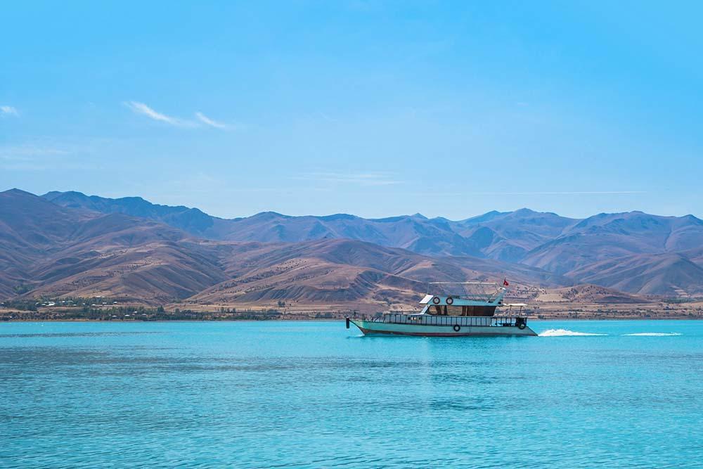 Van Lake and boat