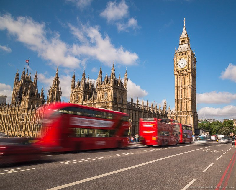 Westminster and double decker buses