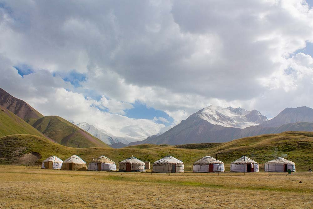 Yurts in the countryside