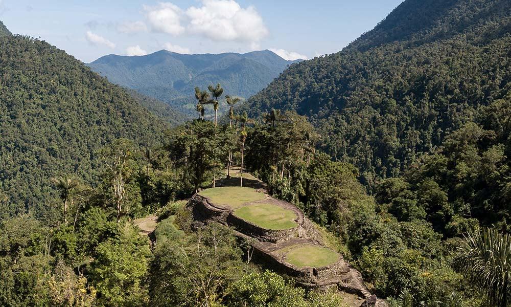 Views of Ciudad Perdida in Colombia