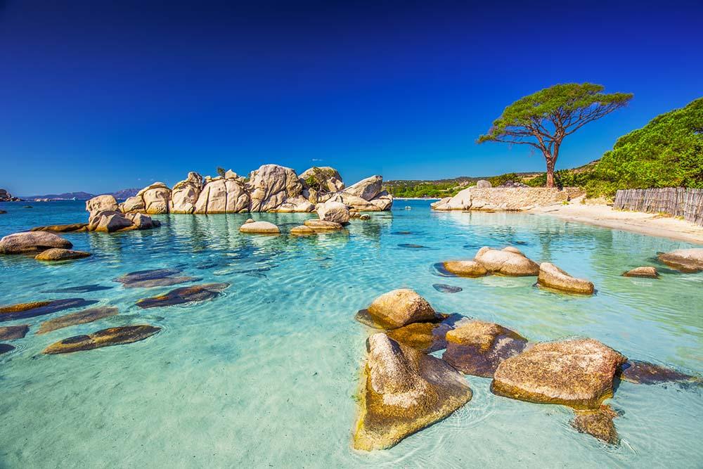 Corsica beach in France