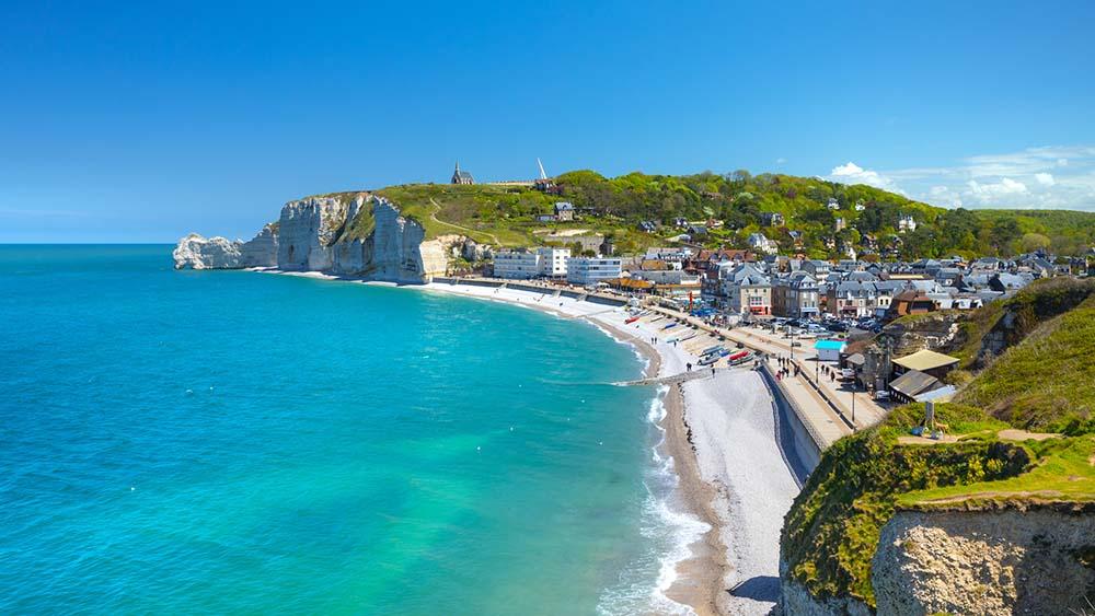 Etretat coastal town in France