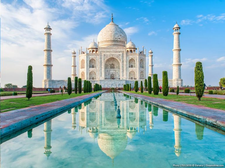 View of Taj Mahal in India
