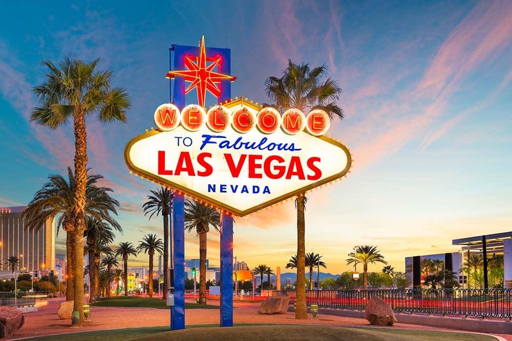Las Vegas entrance sign