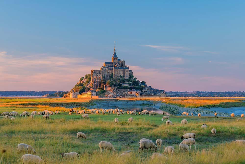 Views towards Mont Saint Michel