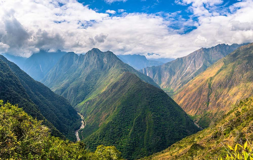 Views of landscape along the Inca Trail
