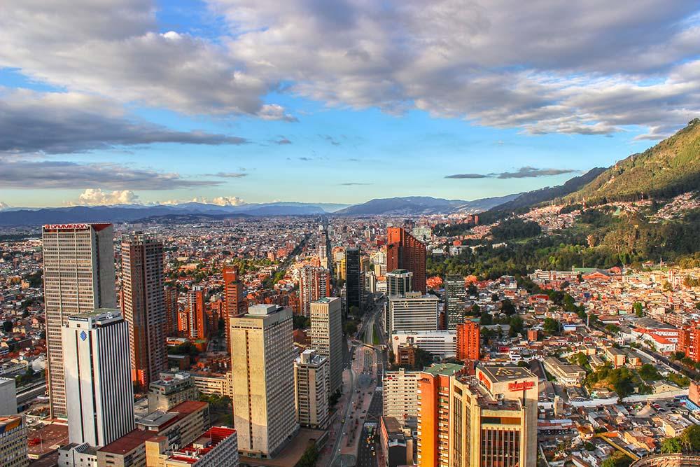 View of the Bogota skyline