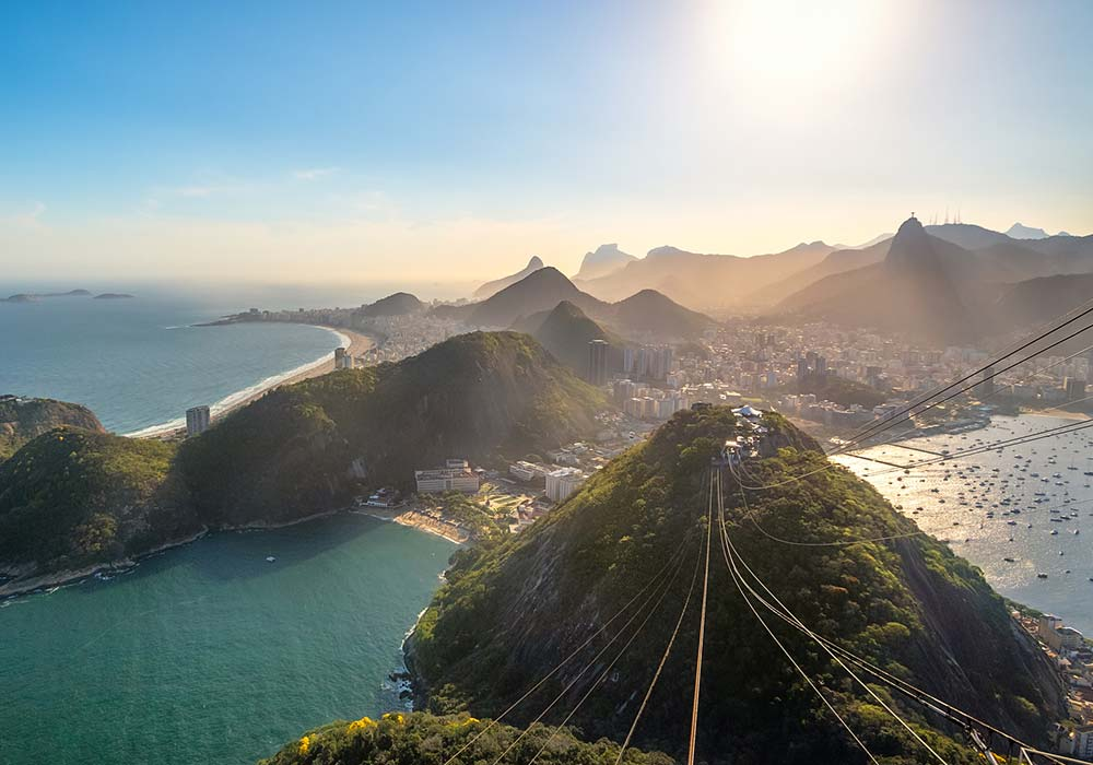 Views of Rio de Janeiro from Sugarloaf mountain