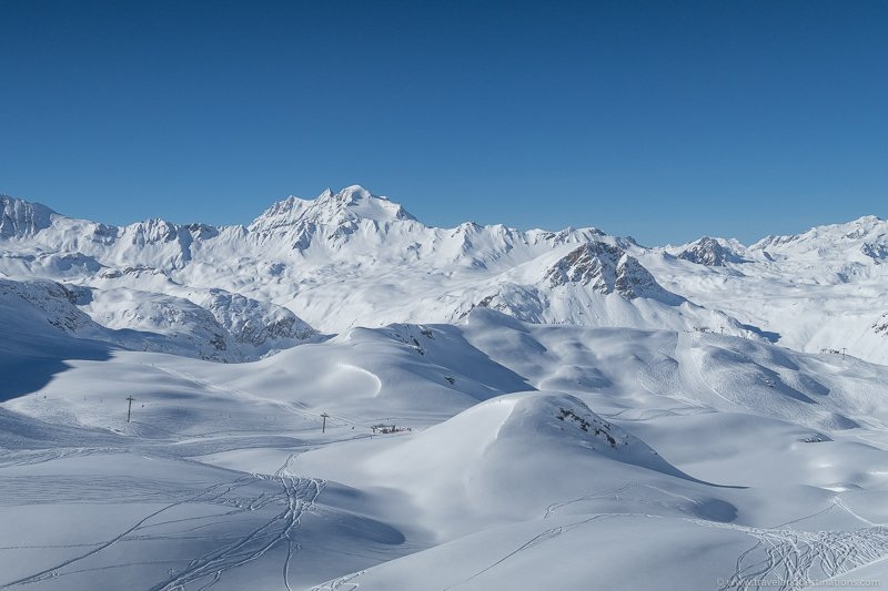 Views of the mountains of Tignes ski resort