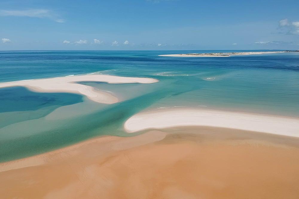 バザルト諸島のビーチ