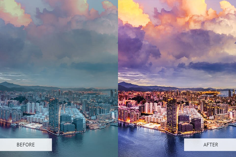 Example of the HDR Effect Photoshop actions