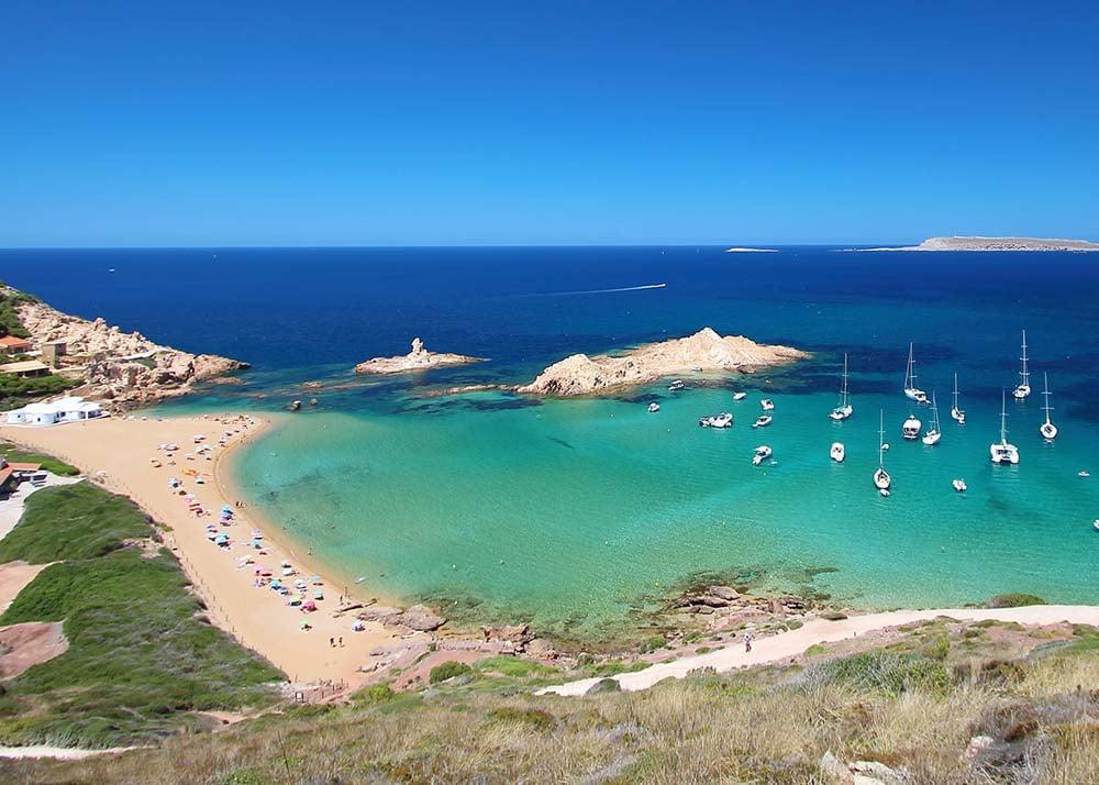 Pregonda beach in Menorca