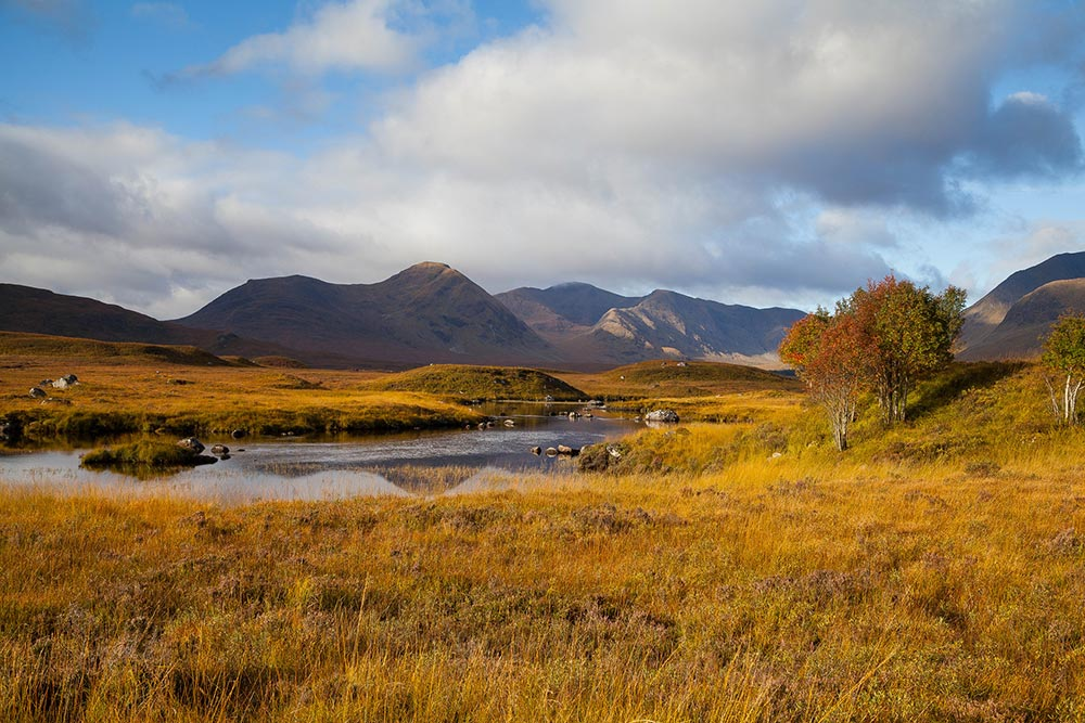 landscape along the West Highland Way in Scotland