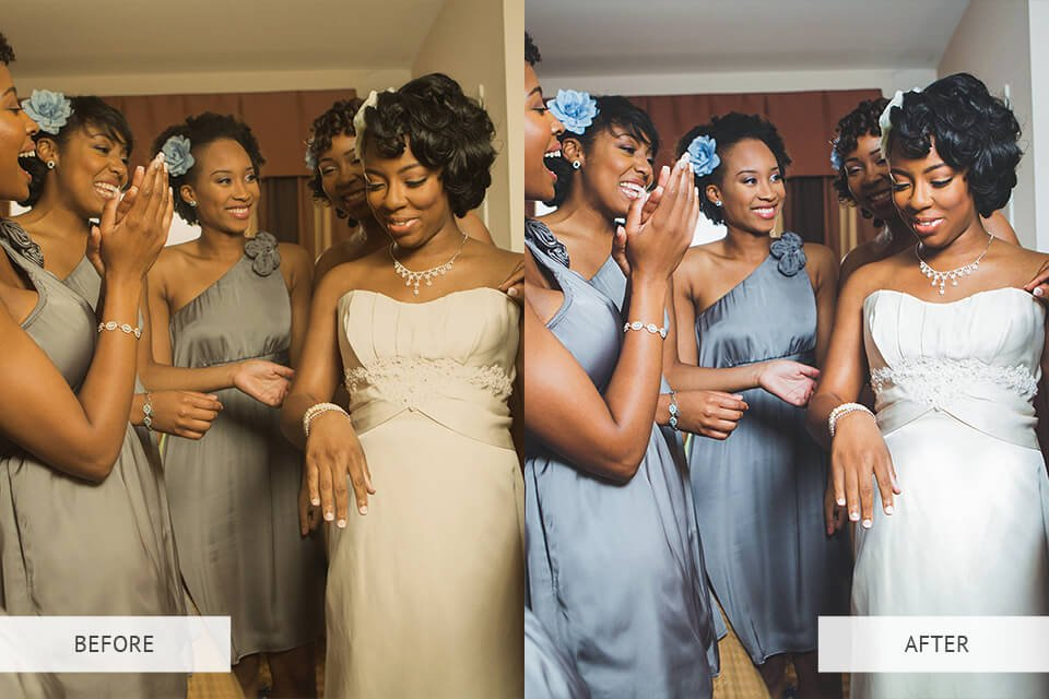 Wedding photography presets - before and after
