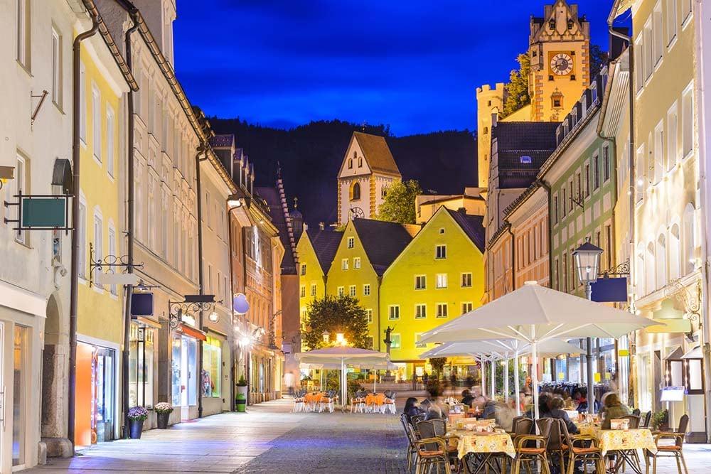 Fussen Town at night