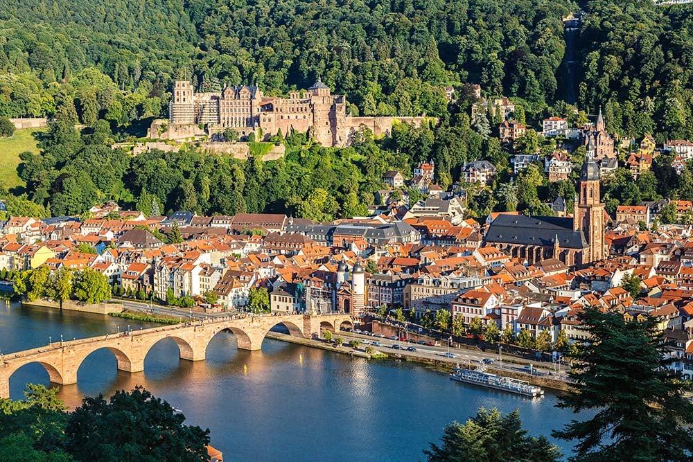 View of the Heidelberg skyline