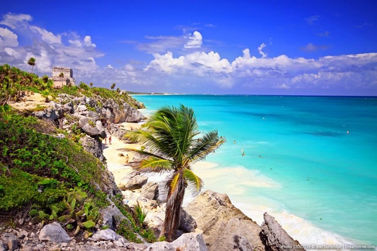 Mexico beaches and ruins in Tulum