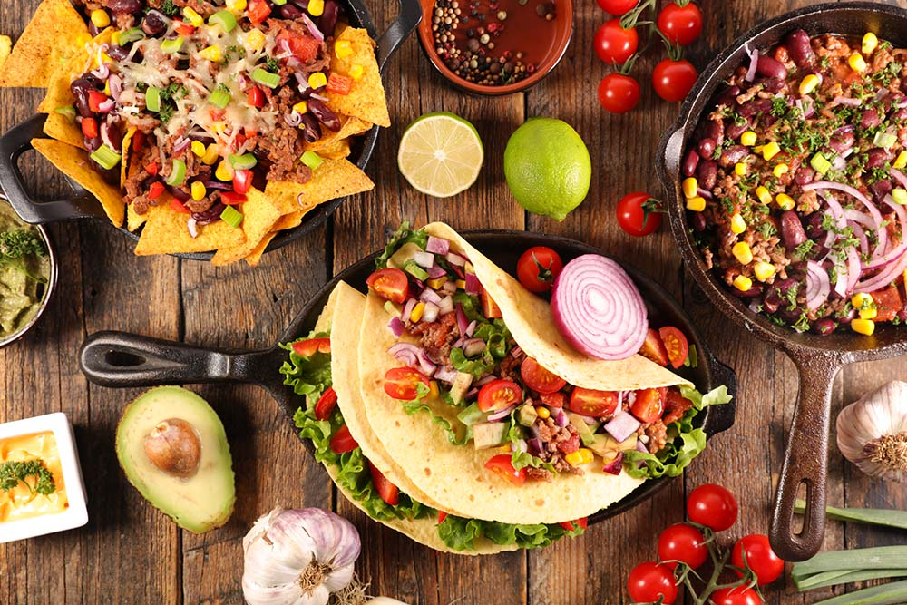 Selection of Mexico Food