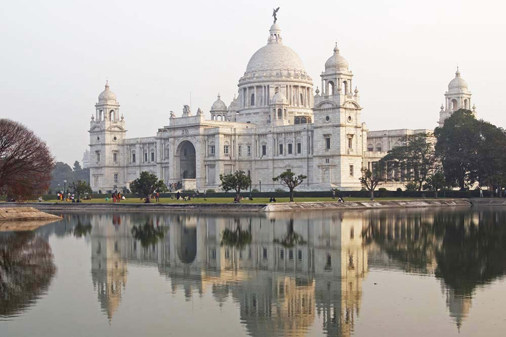 Victoria Memorial in Kolkata with reflections