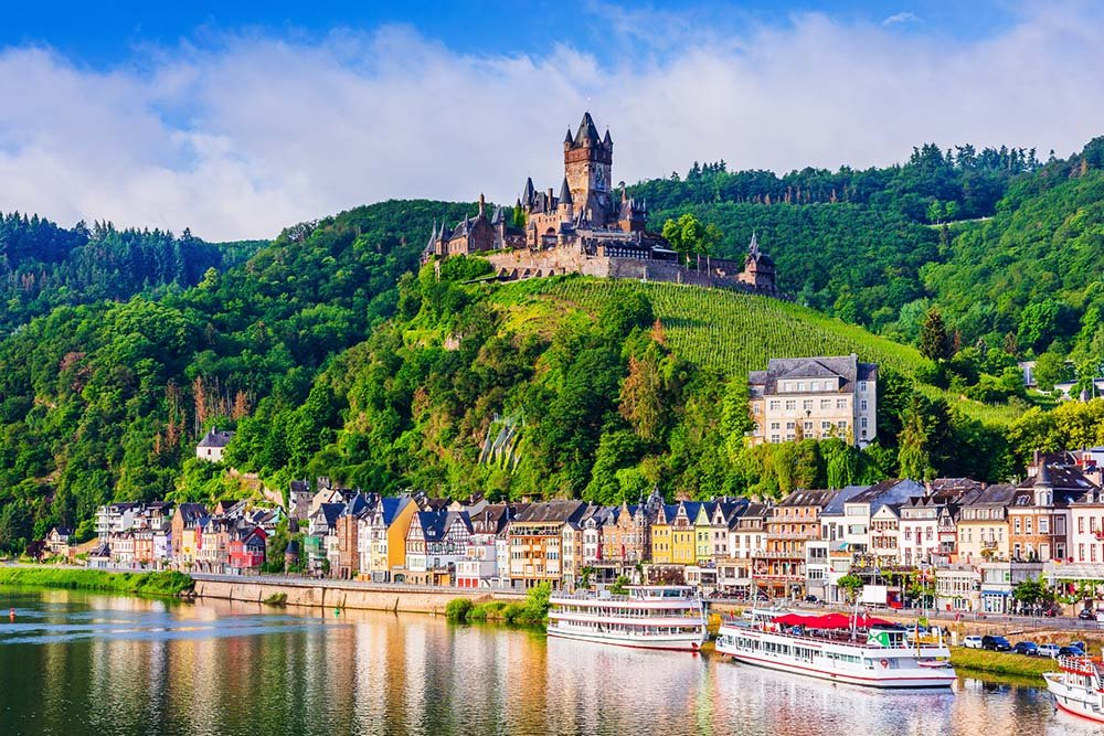 View of Cochem in Germany