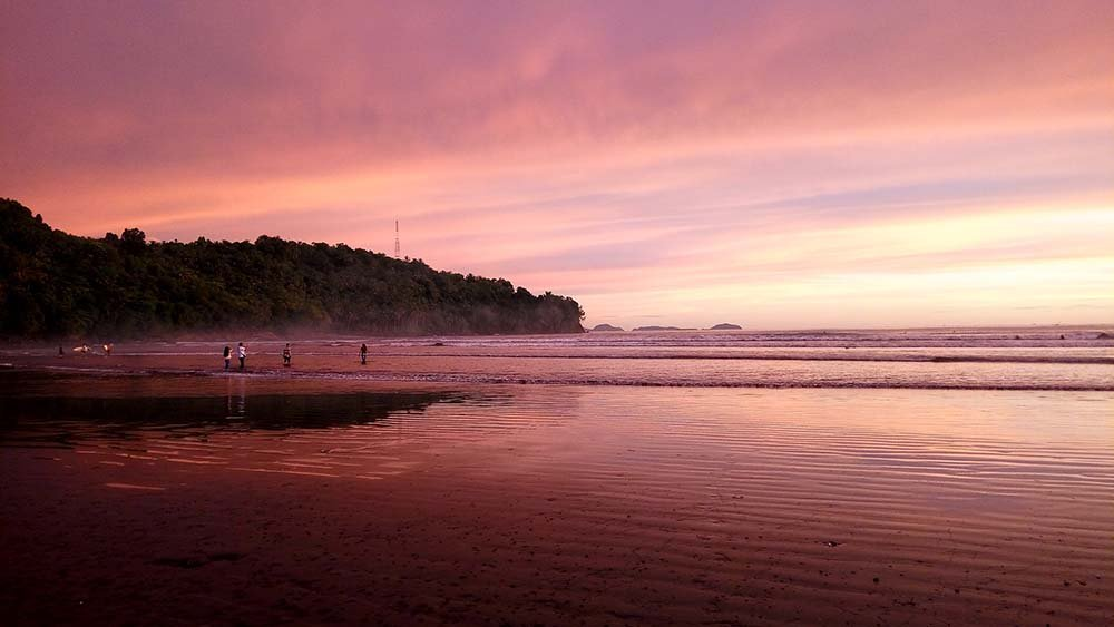 Air Manis beach at sunset