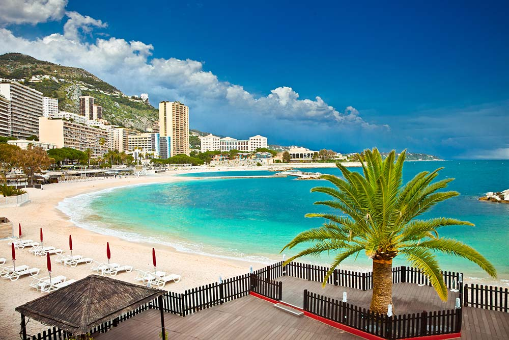 A view of the beach in Monaco