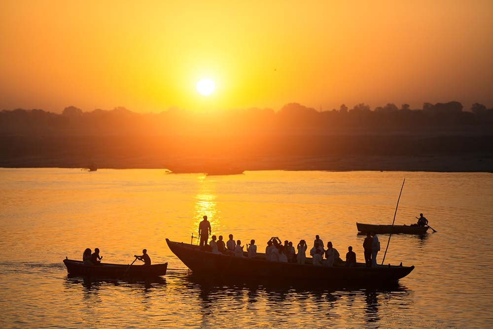 Boat on the river Ganges