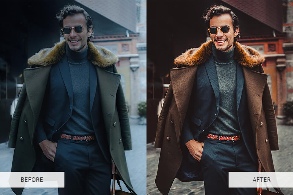 Cinematic Colors Collection presets example